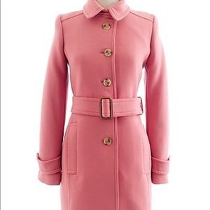 J Crew Double Cloth Slim Trench Coat, Pink, size 4